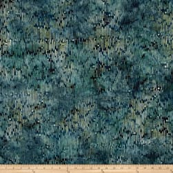 Wilmington Batiks Ikat Blue/Green Fabric