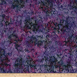 Wilmington Batiks Ikat Dark Purple Fabric