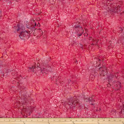 Wilmington Batiks Blossoms All Over Fushsia Fabric