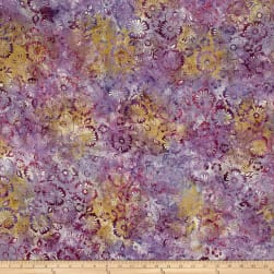 Wilmington Batiks Blossoms All Over Lilac Fabric