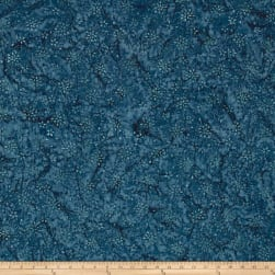 Wilmington Batiks Floral Burst Dark Blue Fabric