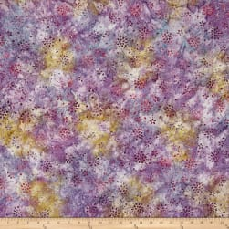 Wilmington Batiks Floral Burst Lilac Fabric