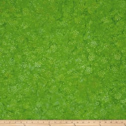 Wilmington Batiks Floral Burst Bright Green Fabric
