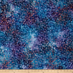 Wilmington Batiks Delicate Scroll Blue/Purple Fabric