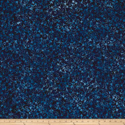 Wilmington Batiks Delicate Scroll Dark Blue Fabric