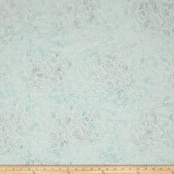 Wilmington Batiks Confetti Leaves Cream/Blue Fabric