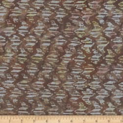 Wilmington Batiks Puzzle Pieces Brown Fabric