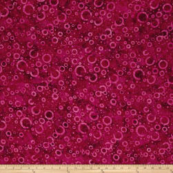 Wilmington Batiks Floating Circles Fuchsia Fabric