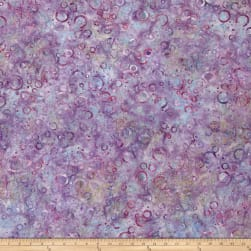 Wilmington Batiks Floating Circles Lilac Fabric