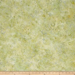Wilmington Batiks Floating Circles Light Green Fabric