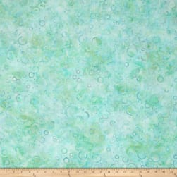 Wilmington Batiks Floating Circles Pastel Green Fabric