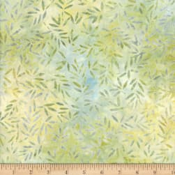Wilmington Batiks Bamboo Leaves All Over Light Green