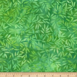 Wilmington Batiks Bamboo Leaves All Over Bright Green