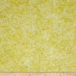 Wilmington Batiks Curlicues Yellow Fabric