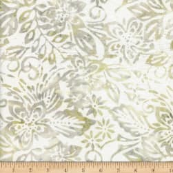 Wilmington Batiks Packed Floral Mix Ivory Fabric