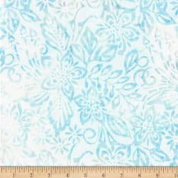 Wilmington Batiks Packed Floral Mix Light Blue Fabric