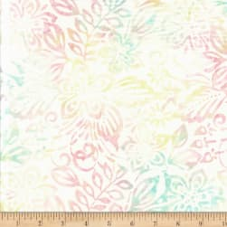 Wilmington Batiks Packed Floral Mix Ivory/Pink