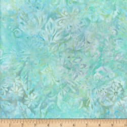Wilmington Batiks Packed Floral Mix Pastel Green