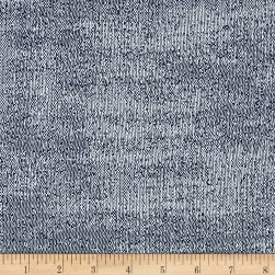 Justina Blakeney Inky Basketweave Indigo Fabric