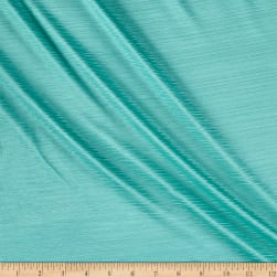 French Designer Textured Slinky Knit Aqua Fabric