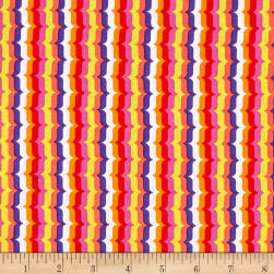 Michael Miller Hello Bracket Stripe Coral Fabric