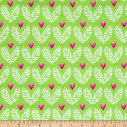 Michael Miller Frolic Big Love Lime Fabric