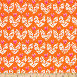 Michael Miller Frolic Big Love Tangerine Fabric