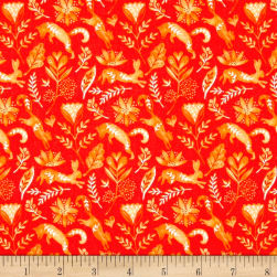 Michael Miller Frolic Frolicking Orange Fabric