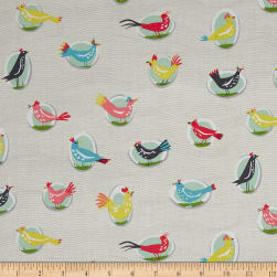 Michael Miller Our Yard Yard Birds Cloud Fabric