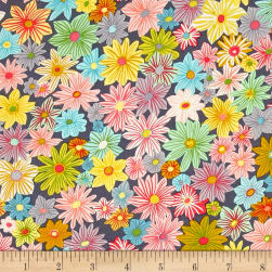 Michael Miller Our Yard Daisy Garden Cloud Fabric