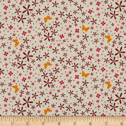 Michael Miller In Bloom Thrive Coral Fabric