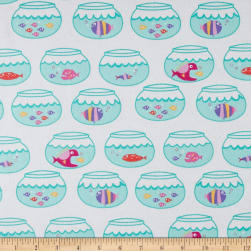 Michael Miller Flannels Swimming In Circles Mermaid Fabric