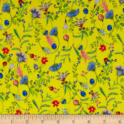 Liberty Fabrics Kensington Crepe de Chine Moonlight Teal/Multi