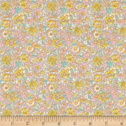 Liberty Fabrics Classic Tana Lawn Amelie Roses Yellow