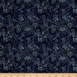 Liberty Fabrics Saville Poplin Elderberry Midnight Blue