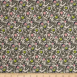 Liberty Fabrics Saville Poplin Huckleberry Green/Pink/Blue Fabric