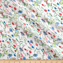 Liberty Fabrics Regent Silk Chiffon Temptation Meadow Red/Blue/Green
