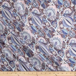 Liberty Fabrics Regent Silk Chiffon Citronella Brown/Blue/Pink