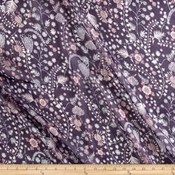 Liberty Fabrics Regent Silk Chiffon Crochet Meadow Purple/Pink