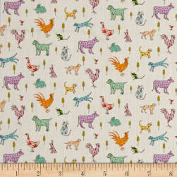 Liberty Fabrics Tana Lawn Farmyard Tails Purple/Multi