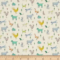 Liberty Fabrics Tana Lawn Farmyard Tails Blue/Multi Fabric