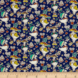 Liberty Fabrics Tana Lawn Goosey Gladrags Blue/Multi Fabric