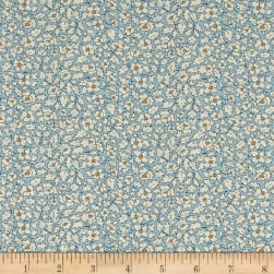Liberty Fabrics Tana Lawn Feather Fields Aqua/White/Yellow