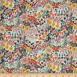 Liberty Fabrics Tana Lawn Mary Mary Yellow/Multi