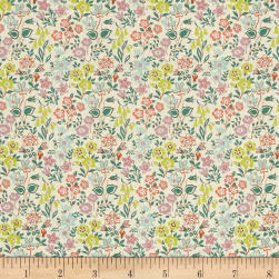 Liberty Fabrics Tana Lawn Silver Yellow/Blue/Green