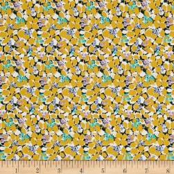 Liberty Fabrics Tana Lawn Hedgerow Yellow/Purple Fabric