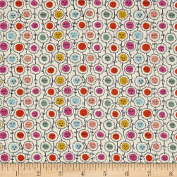 Liberty Fabrics Tana Lawn Happy Bloom Purple/Red/Yellow Fabric