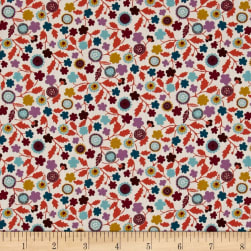 Liberty Fabrics Tana Lawn Fanciful Pink/Purple/White Fabric