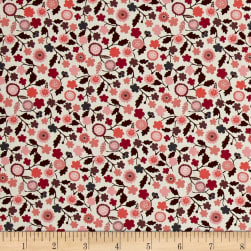 Liberty Fabrics Tana Lawn Fanciful Hot Pink/White Fabric