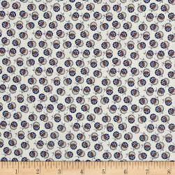 Liberty Fabrics Tana Lawn Lion Blossom Cream/Blue Fabric